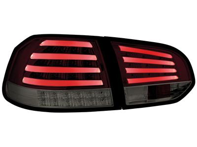 feux arri re led vw golf vi avec clignotants led rouge fum la paire. Black Bedroom Furniture Sets. Home Design Ideas