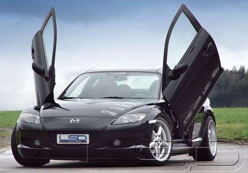kit lambo doors pour mazda rx8 type se fiche produit comptoir. Black Bedroom Furniture Sets. Home Design Ideas