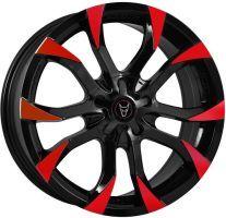 Demon Wheels Eurosport Assassin Gloss Black / Red Tips