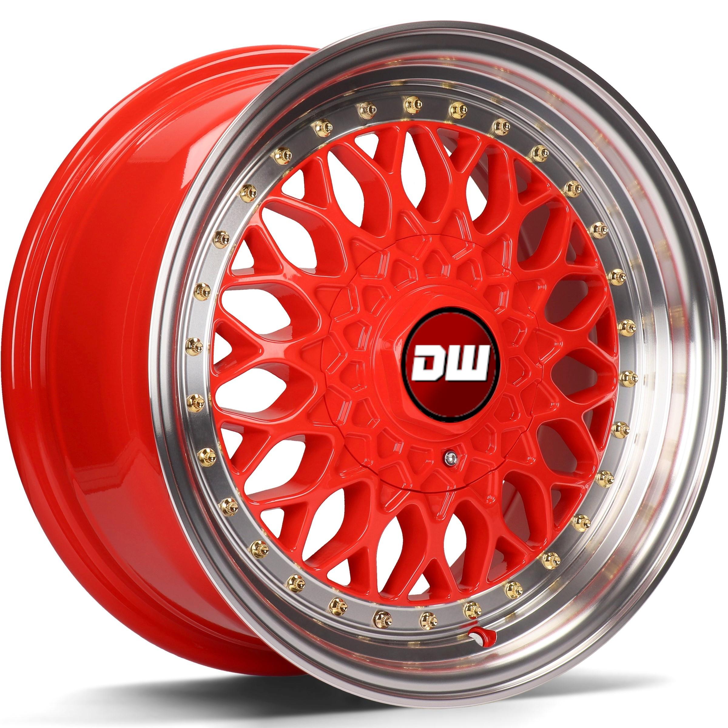 DW Wheels DWV-E Rouge bord Poli