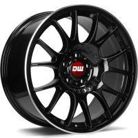 DW Wheels DWV-H Noir Mat bord Poli
