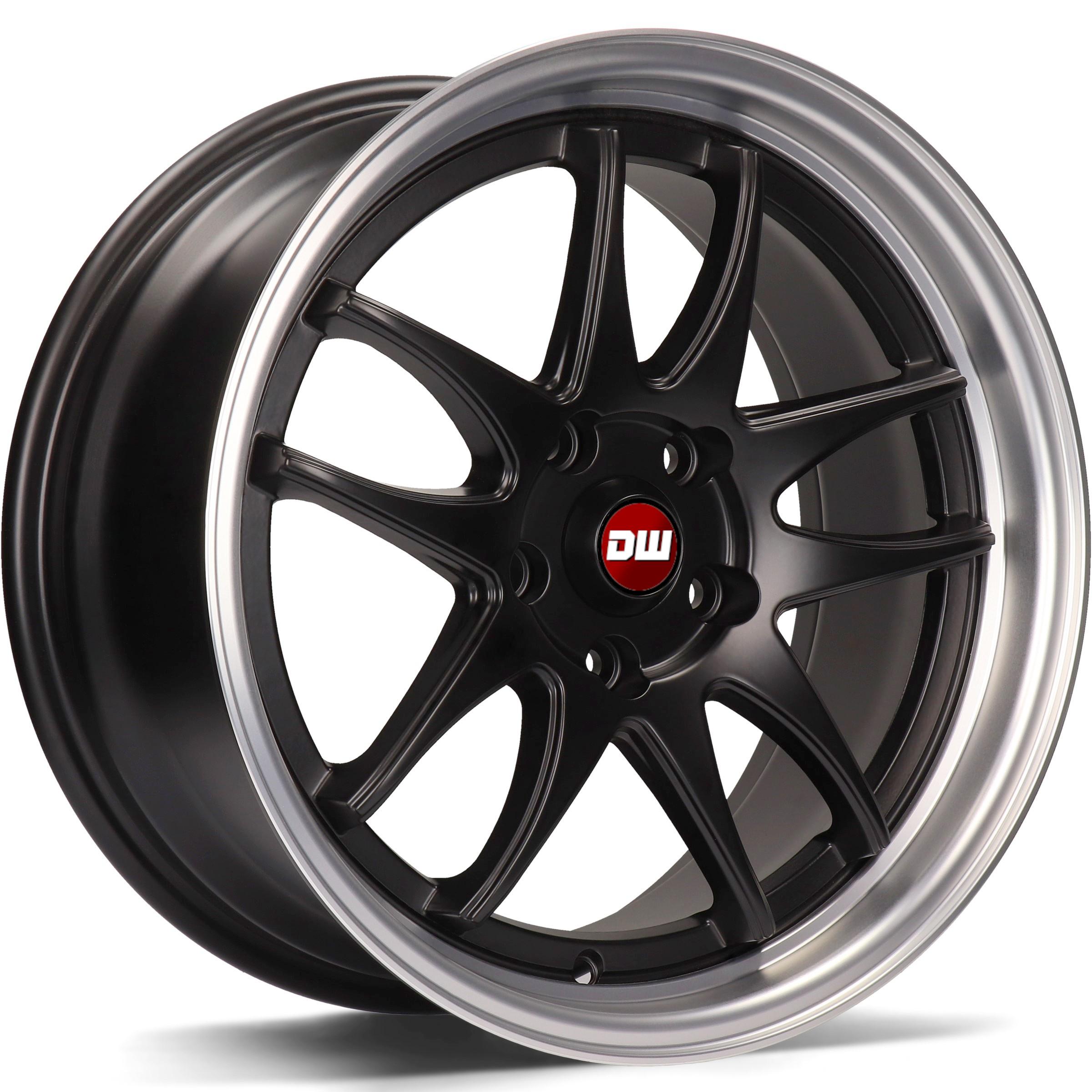 DW Wheels DWV-I Noir Mat bord Poli
