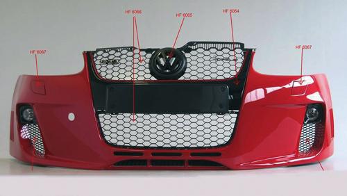 calandre vw golf 5 sf gti r32 comptoir du tuning. Black Bedroom Furniture Sets. Home Design Ideas