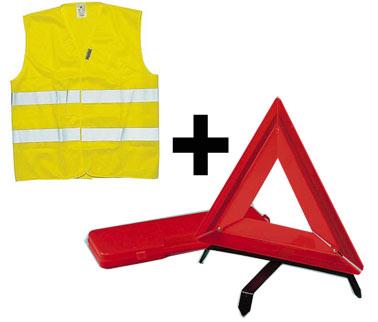 kit homologu gilet jaune triangle comptoir du tuning. Black Bedroom Furniture Sets. Home Design Ideas
