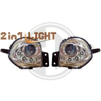 Kit de projecteurs antibrouillard 05-08 KLARGLAS/CHROM (la paire)