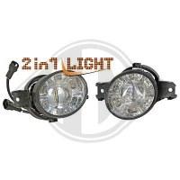 Kit de projecteurs antibrouillard 01->> KLARGLAS/CHROM (la paire)