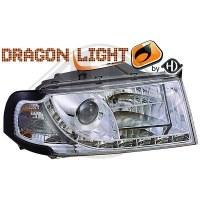 Phare Kit de projecteurs principaux 01-04 KLARGLAS/CHROM (la paire)