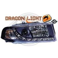 Phare Kit de projecteurs principaux 01-04 KLARGLAS/SCHWARZ (la paire)