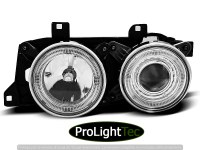 PHARES HEADLIGHTS ANGEL EYES CHROME fits BMW E32/E34 (la paire) [eclcdt_tec_LPBM10]