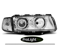 PHARES HEADLIGHTS ANGEL EYES CHROME fits BMW E38 06.94-08.98 (la paire) [eclcdt_tec_LPBM14]