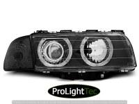 PHARES HEADLIGHTS ANGEL EYES BLACK fits BMW E38 06.94-08.98 (la paire) [eclcdt_tec_LPBM24]