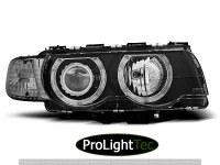 PHARES HEADLIGHTS ANGEL EYES BLACK fits BMW E38 09.98-07.01 (la paire) [eclcdt_tec_LPBM26]