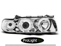 PHARES HEADLIGHTS ANGEL EYES CHROME fits BMW E38 06.94 - 08.98 (la paire) [eclcdt_tec_LPBM36]