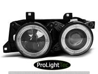 PHARES HEADLIGHTS ANGEL EYES BLACK fits BMW E32/E34 (la paire) [eclcdt_tec_LPBM60]