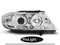 PHARES HEADLIGHTS ANGEL EYES CCFL CHROME fits BMW E90/E91 03.05-08.08  (la paire) [eclcdt_tec_LPBM61]