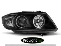 PHARES HEADLIGHTS ANGEL EYES CCFL BLACK fits BMW E90/E91 03.05-08.08 (la paire) [eclcdt_tec_LPBM62]