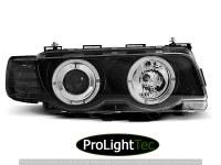 PHARES XENON HEADLIGHTS ANGEL EYES BLACK fits BMW E38 09.98-07.01 (la paire) [eclcdt_tec_LPBM74]