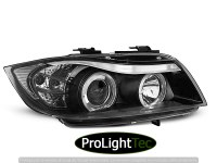 PHARES HEADLIGHTS ANGEL EYES BLACK fits BMW E90/E91 03.05-08.08 (la paire) [eclcdt_tec_LPBM76]