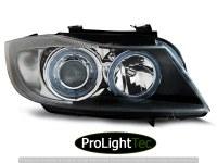 PHARES HEADLIGHTS ANGEL EYES BLACK fits BMW E90/E91 03.05-08.08 (la paire) [eclcdt_tec_LPBM89]
