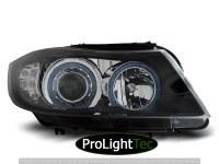 PHARES HEADLIGHTS ANGEL EYES BLACK LED INDICATOR fits BMW E90/E91 03.05-08.08 (la paire) [eclcdt_tec_LPBM90]