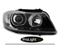PHARES HEADLIGHTS ANGEL EYES LED BLACK fits BMW E90/E91 03.05-11 (la paire) [eclcdt_tec_LPBME4]
