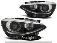 PHARES HEADLIGHTS TRUE DRL BLACK fits BMW F20/F21 11-12.14 (la paire) [eclcdt_tec_LPBMG7]