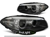 PHARES XENON HEADLIGHTS ANGEL EYES LED DRL BLACK fits BMW F10,F11 10-07.13 (la paire) [eclcdt_tec_LPBMI2]