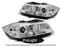 PHARES HEADLIGHTS U-LED LIGHT 3D CHROME fits BMW E90/E91 03.05-08.08 (la paire) [eclcdt_tec_LPBMI3]