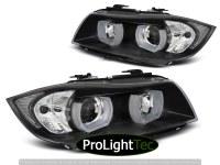 PHARES HEADLIGHTS U-LED LIGHT 3D BLACK fits BMW E90/E91 03.05-08.0 (la paire) [eclcdt_tec_LPBMI4]