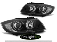 PHARES HEADLIGHTS ANGEL EYES LED INDICATOR BLACK fits BMW E90/E91 03.05-11 (la paire) [eclcdt_tec_LPBMJ1]