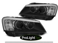 PHARES HEADLIGHTS ANGEL EYES LED BLACK fits BMW X3 F25 10-07.14 (la paire) [eclcdt_tec_LPBMJ6]