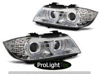 PHARES XENON HEADLIGHTS ANGEL EYES LED DRL CHROME fits BMW E90/E91 09-11 (la paire) [eclcdt_tec_LPBML1]