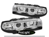PHARES HEADLIGHTS ANGEL EYES LED 3D CHROME fits BMW E38 94-01 (la paire) [eclcdt_tec_LPBML5]