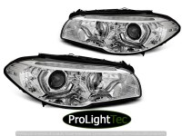 PHARES XENON HEADLIGHTS ANGEL EYES LED DRL CHROME SEQ fits BMW F10/F11 10-13 (la paire) [eclcdt_tec_LPBMM3]