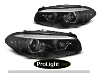 PHARES XENON HEADLIGHTS ANGEL EYES LED DRL BLACK SEQ fits BMW F10/F11 10-13 (la paire) [eclcdt_tec_LPBMM4]