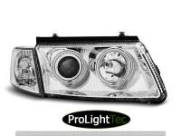 PHARES HEADLIGHTS ANGEL EYES CCFL CHROME fits VW PASSAT B5 3B 11.96-08.00 (la paire) [eclcdt_tec_LPVWJ2]