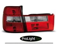 FEUX ARRIERE TAIL LIGHTS RED WHITE fits BMW E34 91-96 TOURING (la paire) [eclcdt_tec_LTBM58]