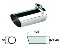 Embout d'échappement d´échappement Inox-sortie : 50 mm