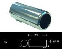 Embout d'échappement d´échappement Inox-sortie 60 mm