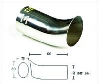 Embout d'échappement d´échappement Inox- sortie : 90x75 mm