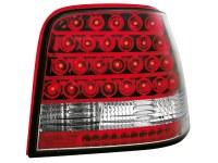 Feux arrière LED Golf IV 97-04 _ rouge/cristal (rouge) (la paire)