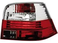 Feux arrière VW Golf IV 97-04 _ rouge/cristal (la paire)