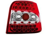 Feux arrière LED VW Golf IV 97-04 _ rouge/cristal (la paire)