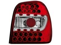 Feux arrière LED VW Polo 6N 95-97 _ rouge/cristal (la paire)