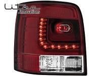 LITEC Feux arrière LED VW Passat 3B/G 97-05 _ rouge/cristal (la paire)