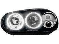 Phares VW Golf IV 97-04 _ 2 CCFL anneaux angeleyes _ chrome (la paire)