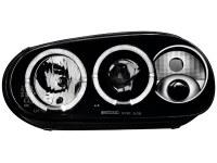 Phares VW Golf IV 97-04 _ 2 anneaux angeleyes _RHD_ noir (la paire)