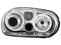 Phares VW Golf IV 97-04 _ 2 anneaux angeleyes _ chrome (la paire)
