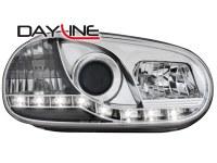 Phares DAYLINE VW Golf IV 97-04 _ Devil eyes _ chrome (la paire)