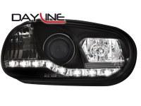 Phares DAYLINE VW Golf IV 97-04 _ Devil eyes _ noir (la paire)